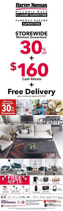 [Harvey Norman] Enjoy these specials promotions on HarveyNormanSG's furniture range, now available at our Millenia Walk Flagship Superstore and Parkway Parade