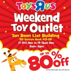 [Babies'R'Us] Join us at our Weekend Toy Outlet here at Tan Boon Liat Building!