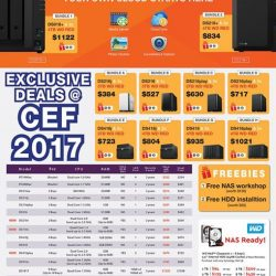 [Newstead Technologies] Great show discounts on WD and Synology storage devices now available at CEF 2017 at Suntec Convention Hall, level 3,