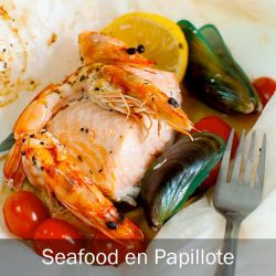 """[THE SEAFOOD MARKET PLACE BY SONG FISH] Seafood en Papillote""""En papillote"""", which means """"in parchment"""" in French, is a method of cooking, whereby food is placed"""
