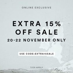 [MDSCollections] The sale starts now, extra 15% off | Online exclusively, shop responsibly