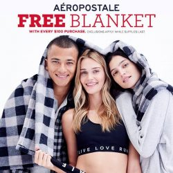 [Aeropostale] We are extending black friday and our free blanket with any $100 purchase (while supplies last).