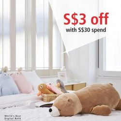 [Miniso] Enjoy S$3 off when you spend S$30 or more with your DBS/POSB card.