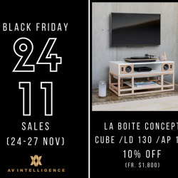 [AV Intelligence] This Black Friday Weekend (24-27 Nov), TAKE $10% OFF the La Boîte Concept range of products.