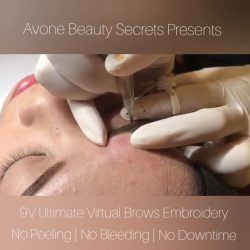 [AVONE BEAUTY SECRETS] Dear Vivien had her brows redefined with the latest ABS 9V Ultimate Virtual Brows Embroidery!