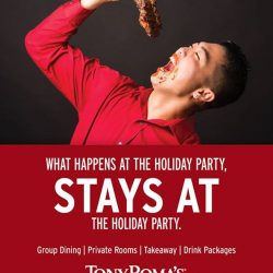 [Tony Roma's] Group & Event Dining Planning a party for the holidays?