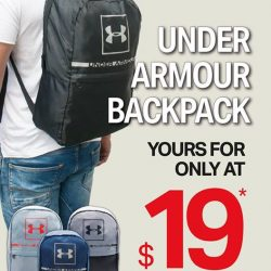 [DOT Singapore] PROMOTION: Under Armour Backpack NOW $19 (U.
