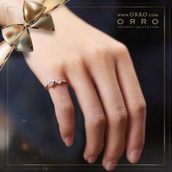 [ORRO Jewellery] a Magical Christmas…🎄 Not one but two hearts cut gems set in perfect symmetry, forming a bow to celebrate two