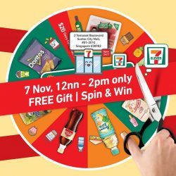 [7-Eleven Singapore] Get exclusive deals and take part in our Spin & Win when you spend at least $5 at our newest store