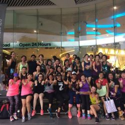 [Amore Fitness] On 4 Nov, we partied it up with an exciting and heart-pumping Zumba mass workout at Plaza Singapura!