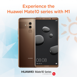 [M1] Experience the world's first AI processor on the Huawei Mate 10 series, at M1 Shop Bugis Junction, Causeway Point,