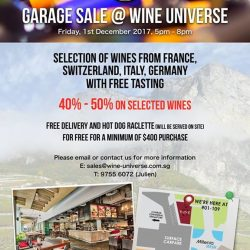 [Wine Universe Restaurant & Wine Bar] OUR YEARLY GARAGE SALE FOR EUROPEAN WINES IS HERE!