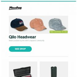 [Massdrop] Qilo Headwear, Lansky Universal Sharpening System, Massdrop x Klymit Ultralight V Sleeping Pad and more...