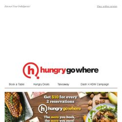 [HungryGoWhere] 50% Off for Second Main, Joshu Gyu Wagyu @ $80 & more Payday Deals for You!