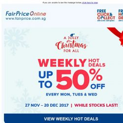 [Fairprice] This week's hot deals up to 50% off!