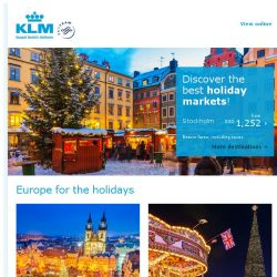 [KLM] Europe for the holidays