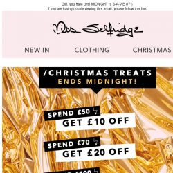 [Miss Selfridge] Last chance for £30 off!