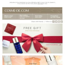[COSME-DE.com] ❤Double 12 Pre-Sale❤Get Your Free Gift Before it's Gone