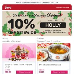 [Fave] Be Holly and Jolly with our sitewide sale!