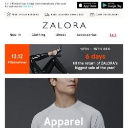 [Zalora] 12.12 Early Access: Up to 60% off Apparel!