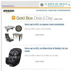 [Amazon] Save up to 60% on game room essentials