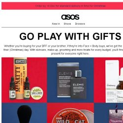 [ASOS] Gifts to grab – make-up, grooming and more
