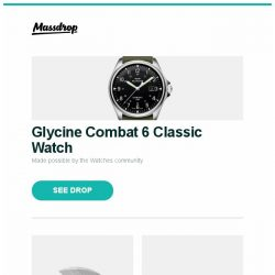 [Massdrop] Glycine Combat 6 Classic Watch, Serge Panchenko Thorn Generation 2 Slipjoint, Julbo Armor Sunglasses and more...