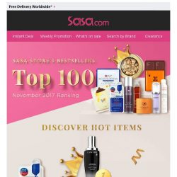 [SaSa ] 【Highlight of the Month】Sasa Store's TOP100 Items!