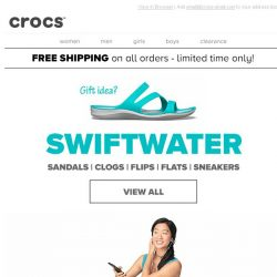 [Crocs Singapore] Up for anything? Check out our newest Swiftwater styles!