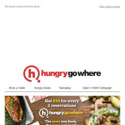 [HungryGoWhere] 1 For 1 Crab, 3rd diner dines free & more Red Hot Deals!