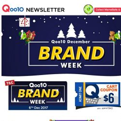 [Qoo10] More Crazy Deals From Your Favorite Brands For Our Last Brands Week Of The Year! Grab Them Now!