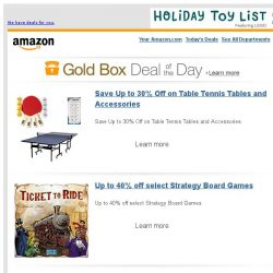 [Amazon] Save Up to 30% Off on Table Tennis Tables and...