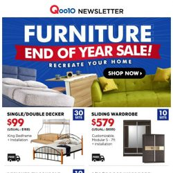 [Qoo10] [Year End SALE!] $9.90 ORAL-B Electric Toothbrush, $17.90 Steamboat YuanYang Pot & $109 Minimalist Dressing Table, don't miss out!
