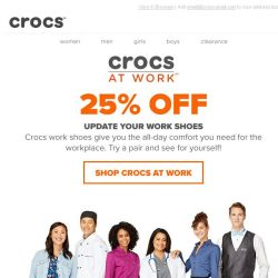 [Crocs Singapore] All day comfort you need for the work place! Now 25% Off!