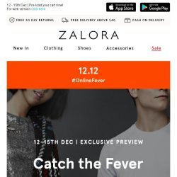 [Zalora] Subscribers' Exclusive: 12.12 #OnlineFever deals unveiled!