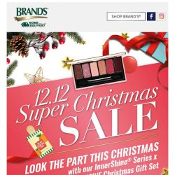 [Brand's] What are you waiting for?! 12.12 ETUDE HOUSE x BRAND'S Super Christmas Sale is now on!