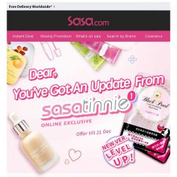 [SaSa ] 【Sasatinnie】Must check upgraded NEW products! And tips for your fall makeup!