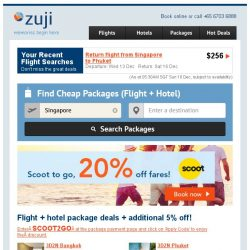[Zuji] 🖐5% off Scoot Packages! Scoot to go!
