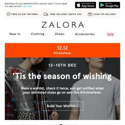 [Zalora] 'Tis the season to make wishes! 12.12 #OnlineFever