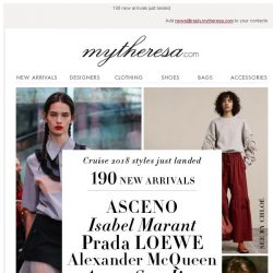 [mytheresa] Cruise 2018 styles just in: Prada, See By Chloé, ASCENO...
