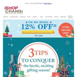 [iShopChangi] Holiday shopping hacks you should know