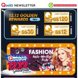 [Qoo10] 1212 Brand Flash Deals + FREE Shipping! $69 Fossil Leather Watches &  $3.90 SNP Mask! Most Popular In Korea!!