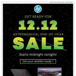 [HP Singapore]  Get ready for 12.12 End-of-Year Sale!