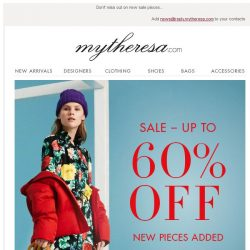 [mytheresa] Sale: over 1000 new pieces added – up to 60% off + free shipping