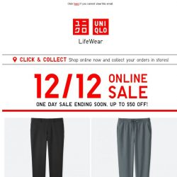 [UNIQLO Singapore] Time is ticking...Sale is ending!!!