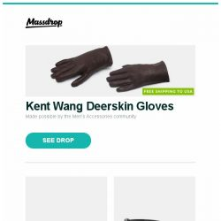 [Massdrop] Kent Wang Deerskin Gloves, Maserin 550 OneFold Pocket Knife w/ Money Clip, ESS Eyewear CDI MAX Sunglasses and more...