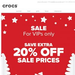 [Crocs Singapore] Your VIP offer is here! Enjoy an EXTRA discount!