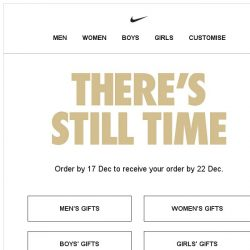 [Nike] Last Minute Gifts
