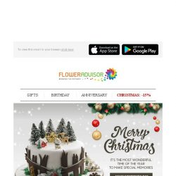 [Floweradvisor] Sweeten Up Someone's Holiday With Special Cake Made For Christmas