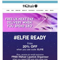 [HQhair] #Elfie Ready | Save 20% + Free Gift Inside